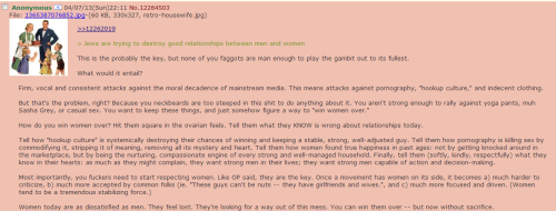 chanarchive.org - We need to redpill women. What are good tactics for this. - archived from 4chan -pol- - Politically Incorrect
